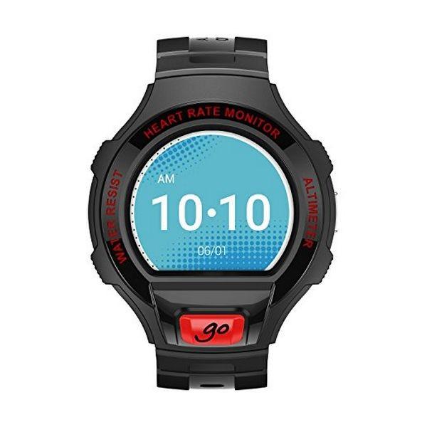 "Smartwatch Alcatel GO Onetouch 1.22"" Schwarz Dunkelrot"