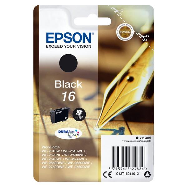 Original Tintenpatrone Epson T1621 Schwarz