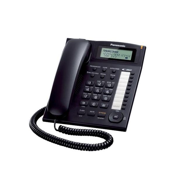 Festnetztelefon Panasonic KX-TS880EXB LCD Schwarz