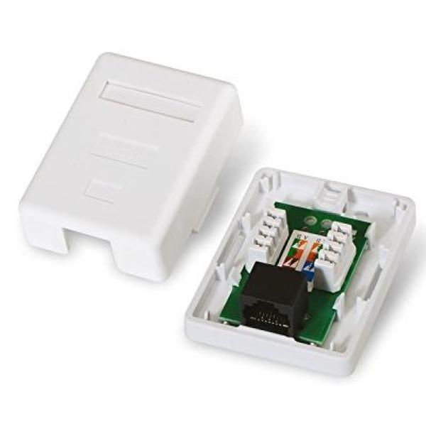 Datendose mit Netz NANOCABLE 10.21.1501 UTP RJ45 6 Weiß