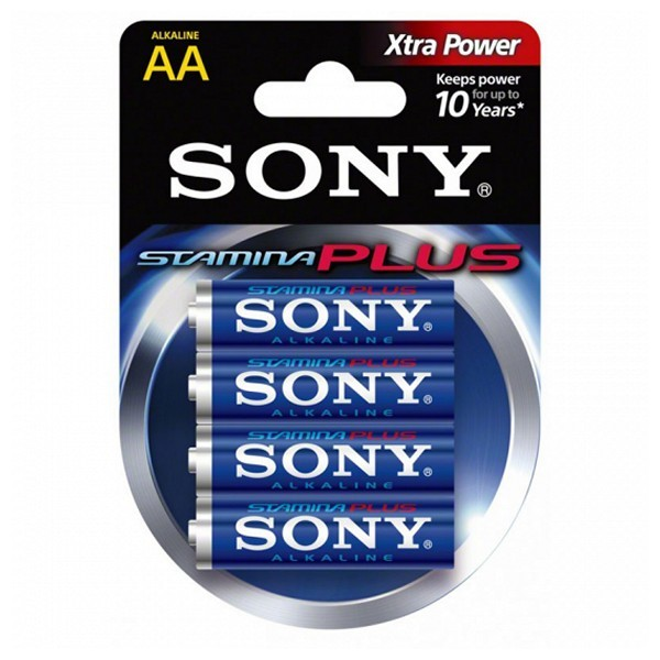 Alkline-Batterie Sony 4+2 AA Stamina Plus AM3-B4X2D 1,5 V AA (4 pcs) Blau