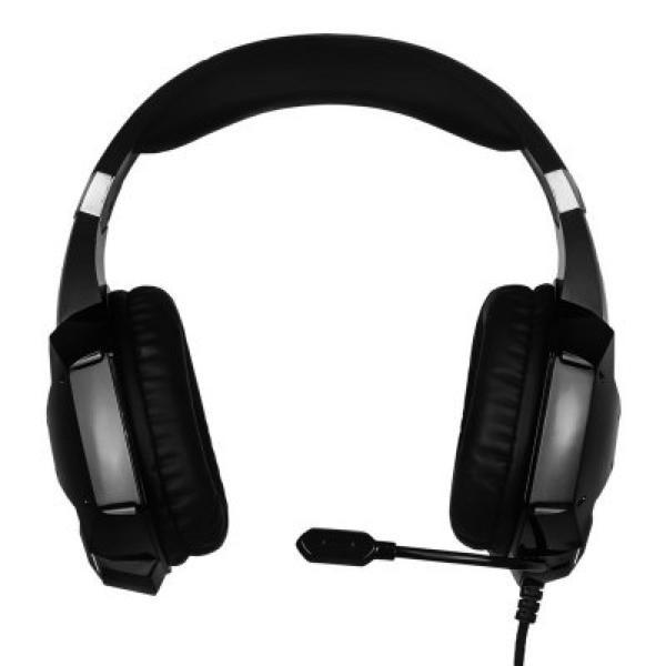 Gaming Headset mit Mikrofon NOX NXKROMKPST Schwarz