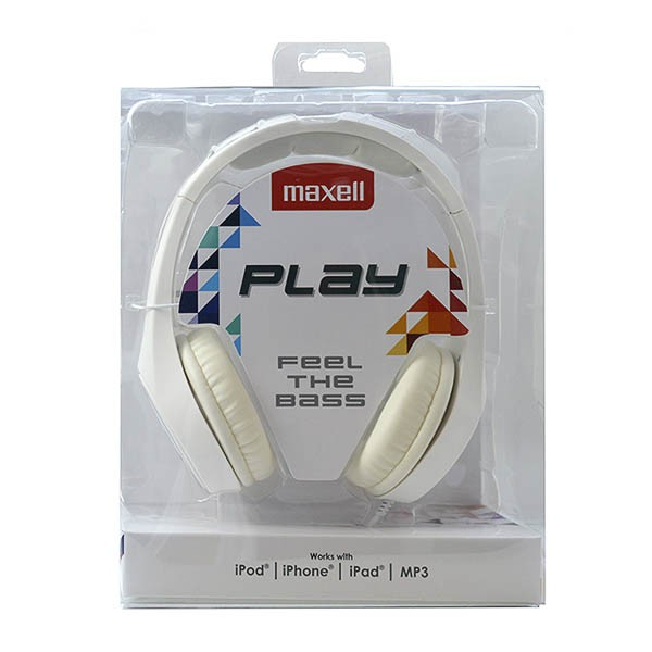 Kopfhörer Maxell Play MXH-HP500 Weiß Stirnband