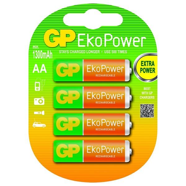 Akkus GP 125AAHCEPC4 1, 2 V 1300 mAh AA (4 pcs) Grün Orange