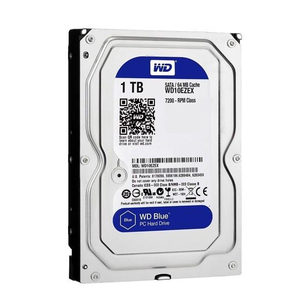 """Festplatte Western Digital Blue WD10EZEX 3.5"""" 1 TB Sata III 7200 rpm Buffer 64 MB"""