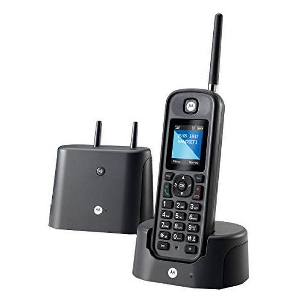 Kabelloses Telefon Motorola E52000X60T1GEF03 Schwarz
