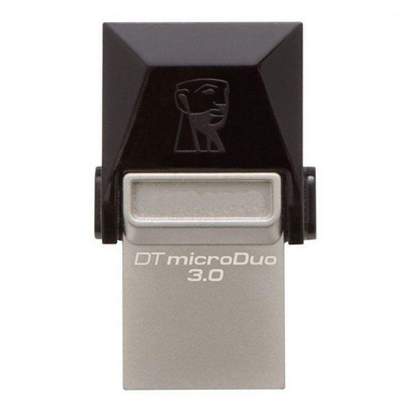 USB und Mikro USB Stick Kingston DTDUO3 64 GB USB 3.0 Schwarz Grau