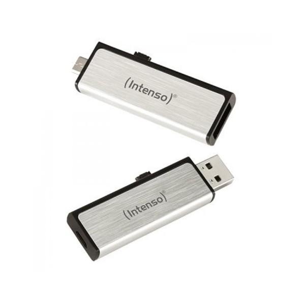 USB und Mikro USB Stick INTENSO 3523470 16 GB Silber