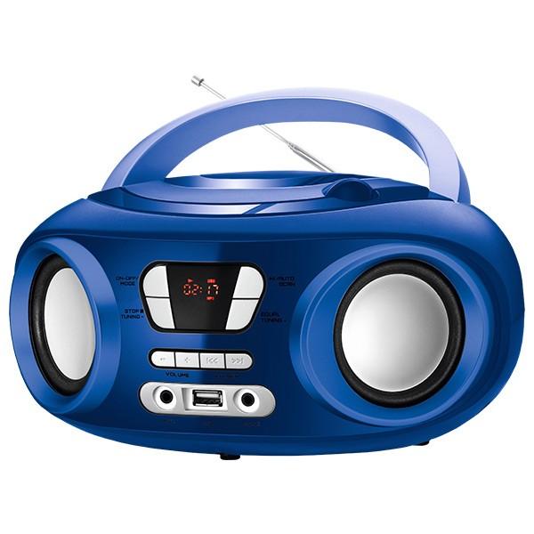 """Radio/CD Bluetooth + mp3 9"""" BRIGMTON W-501 USB Blau"""