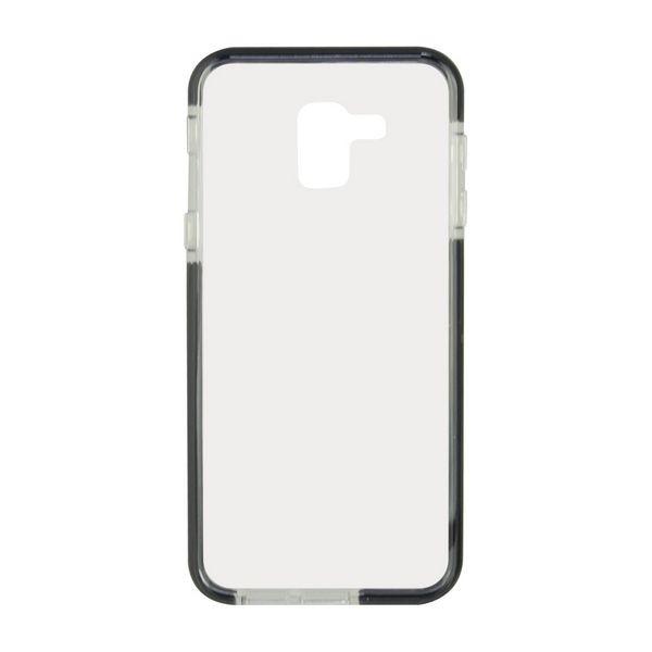 Handyhülle Samsung Galaxy A8 2018 Flex Armor TPU Polycarbonat Schwarz Durchsichtig