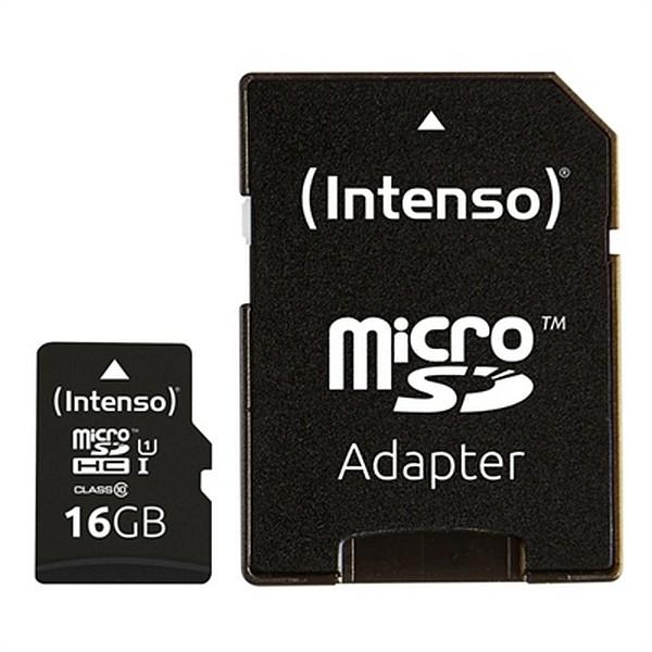 Mikro SD Speicherkarte mit Adapter INTENSO 34234 UHS-I Premium Schwarz