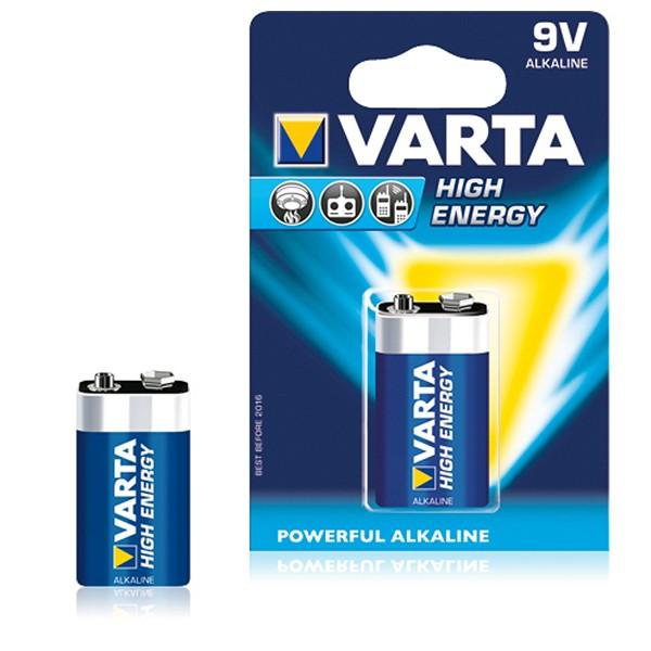 Alkline-Batterie Varta 6LR61 9 V 580 mAh High Energy Blau