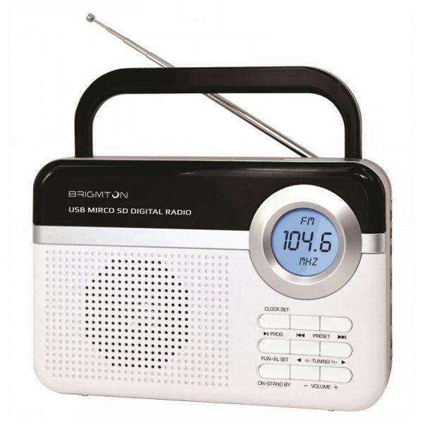 Tragbares Radio BRIGMTON BT 251 B Weiß