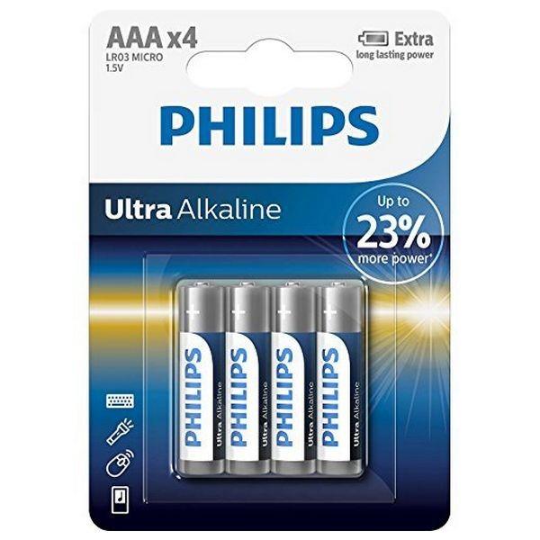 Alkali-Mangan-Batterie Philips LR03 AAA LR03 (4 pcs)