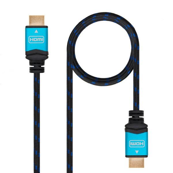 HDMI Kabel TooQ 10.15.37 V2.0 Schwarz Blau