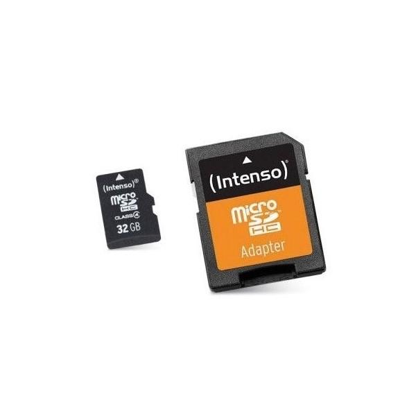 Mikro SD Speicherkarte mit Adapter INTENSO 3413480 32 GB Klasse 10
