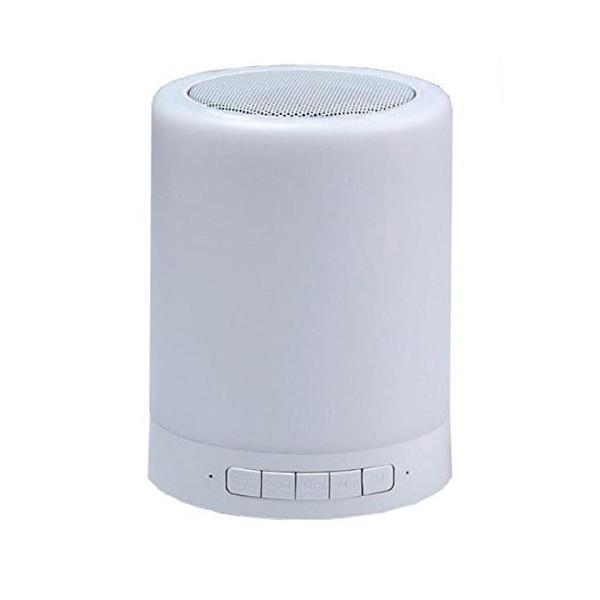 Bluetooth-Lautsprecher mit LED-Lampe CoolBox COO-BTALED-R1 3W Weiß