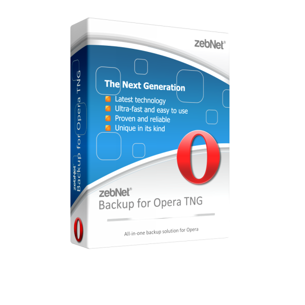 zebNet® Backup for Opera TNG - Single User License for 1 Computer