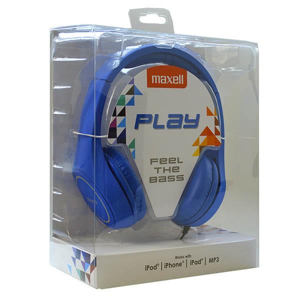 Kopfhörer Maxell Play MXH-HP500 Blau Stirnband