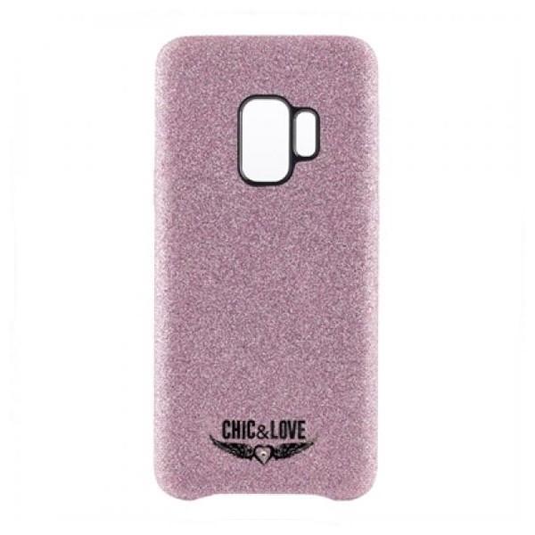 Hülle Samsung S9 Chic & Love CHCAR007 Glitzernd Rosa