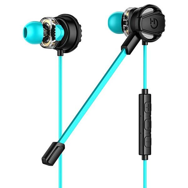 Gaming Headset mit Mikrofon Hiditec GHE010002 (3.5 mm) Schwarz Blau