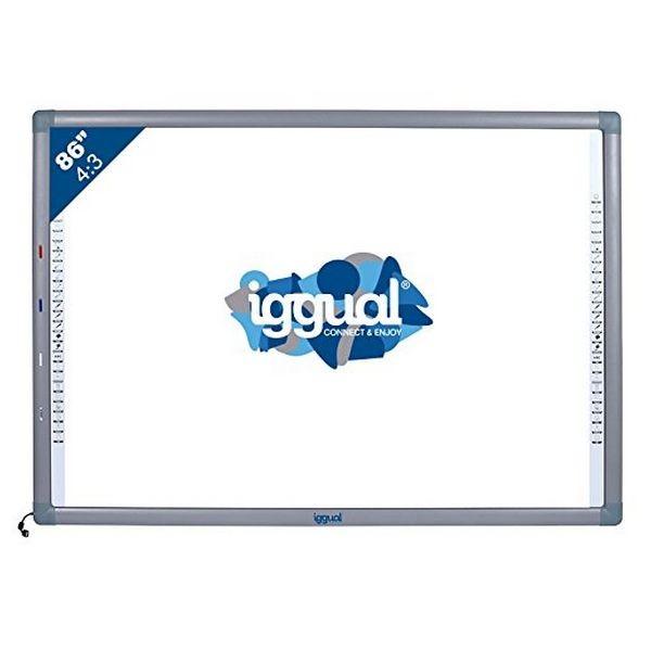 "Interactive Whiteboard iggual IGG314371 86"" 4:3 Infrarot"