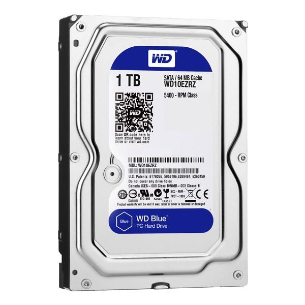 "Festplatte Western Digital Blue WD10EZRZ 3.5"" 1 TB Sata III 5400 rpm Buffer 64 MB"