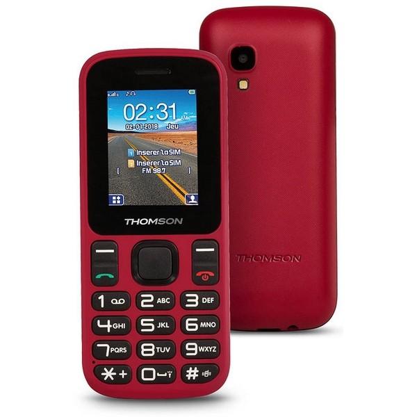 "Mobiltelefon für ältere Erwachsene Thomson TLINK T12 1,77"" Bluetooth VGA FM Rot"