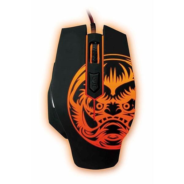 Gaming Maus iggual IGG315804 LED Schwarz Orange