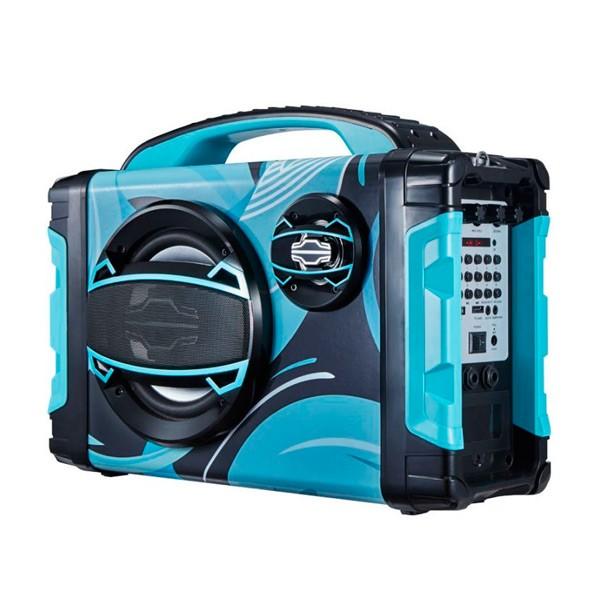 Tragbare Bluetooth-Lautsprecher BRIGMTON BBOX-2 FM LED 25W Blau