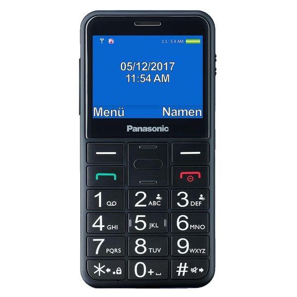 Mobiltelefon für ältere Erwachsene Panasonic KX-TU150 TFT LCD Dual SIM Schwarz