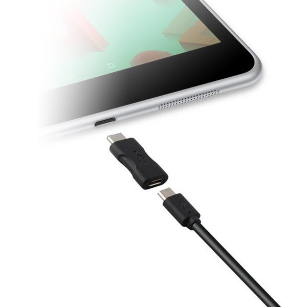 USB 2.0-zu-USB-C 3.1-Adapter Schwarz