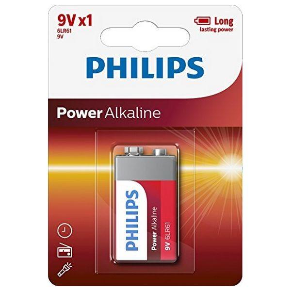 Alkline-Batterie Philips 6LR61 9V